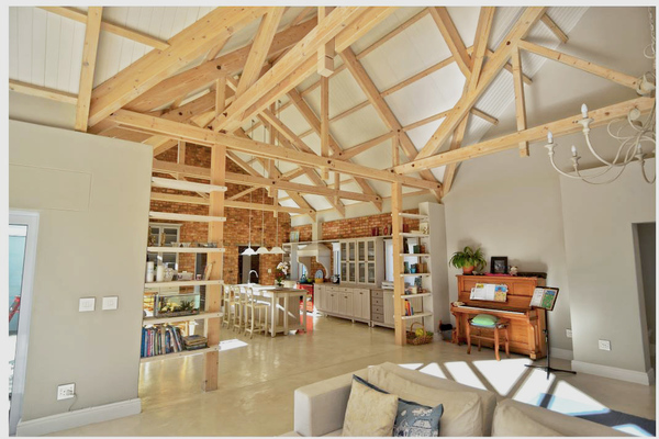 Spruce beams in house by Pitch 45