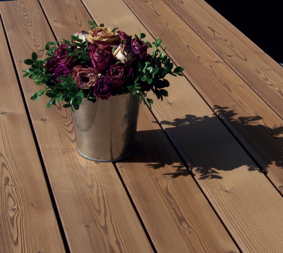 Thermally treated pine decking