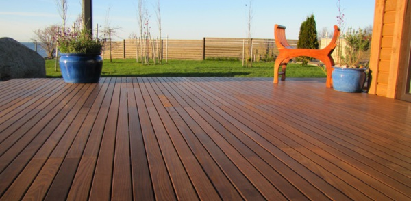 Thermally treated ash decking